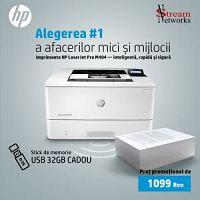 Imprimantă HP LaserJet Pro M404DN + Stick de memorie USB 32GB cadou