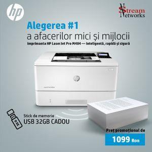 Imprimantă HP LaserJet Pro M404DN + Stick de memorie USB 32GB cadou-foto-mare-1